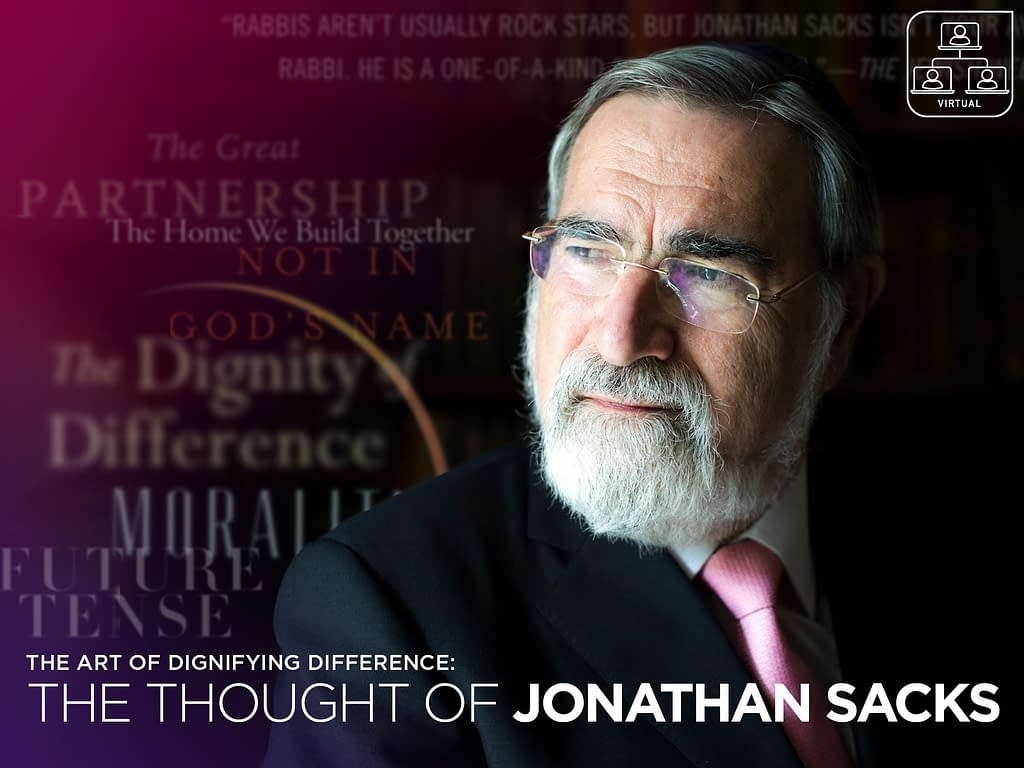 Dr. Daniel Rynhold: The Art of Dignifying Difference: The Thought of Jonathan Sacks 5 - Mondays - Mondays