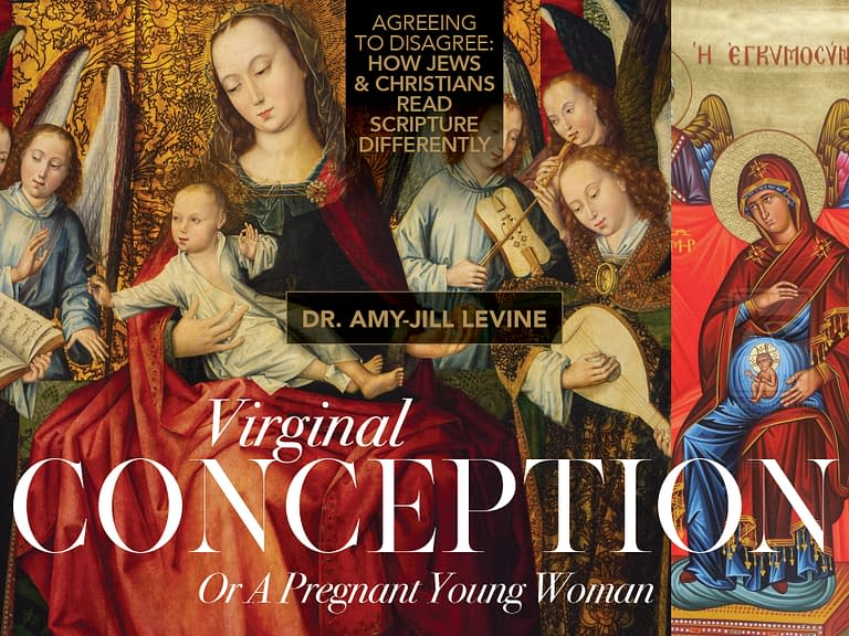 Dr. Amy-Jill Levine: Virginal Conception or A Pregnant Young Woman - Madonna and Child with Angels - Master of the Embroidered Foliage