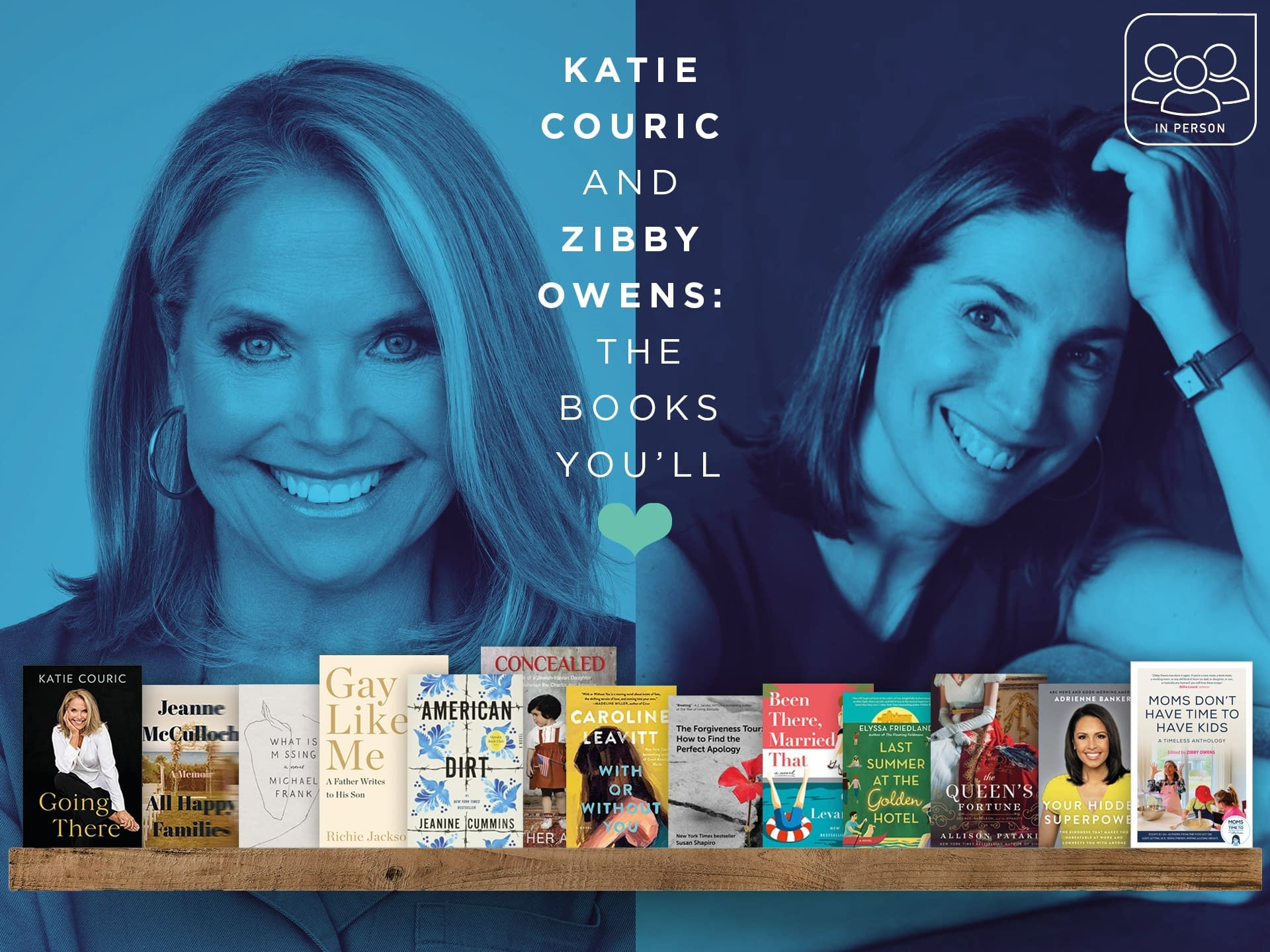 Katie Couric and Zibby Owens: The Books You'll Love 3 - - author