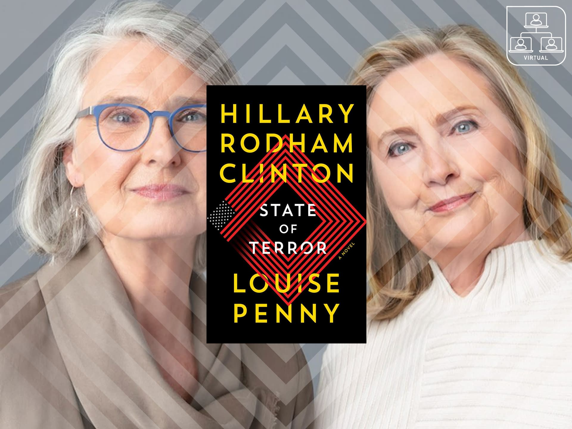Hillary Rodham Clinton and Louise Penny: State Of Terror 3 - - author