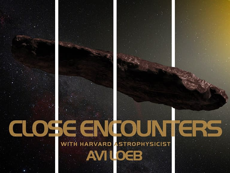 Close Encounters with Avi Loeb - Text - Poster